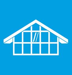 warehouse icon white vector image