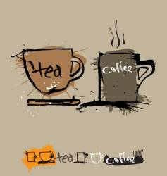 Ink coffee cup vector