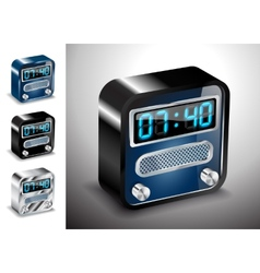 Icons button alarm clock vector