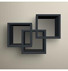3d bookshelves vector