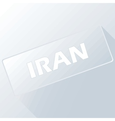 Iran unique button vector