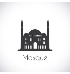 Mosque single flat icon on white background vector