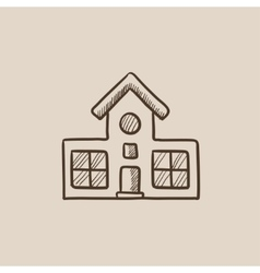 Building sketch icon vector
