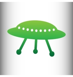 Ufo simple icon vector