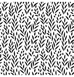 Black and white leaves seamless pattern vector image vector image