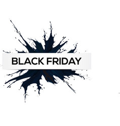 Black friday big sale black ink splach vector