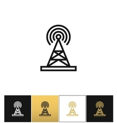 Broadcasting tower or broadcast station vector image