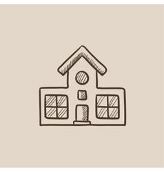 Building sketch icon vector