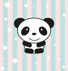 Cartoon little panda vector image vector image