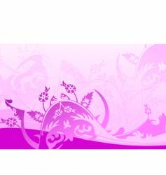 color backgrounds curves and leaves vector image vector image