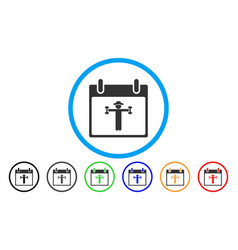 fitness calendar day rounded icon vector image vector image