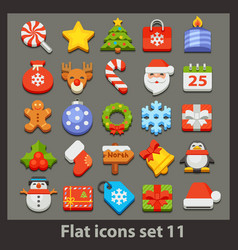 flat icon-set 11 vector image vector image