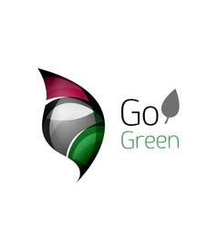 Go green logo Green nature concept vector image vector image