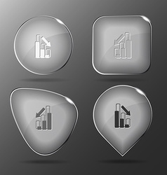 Graph degress glass buttons vector