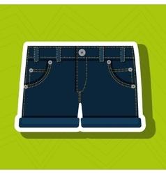 Jeans woman closet clothes vector