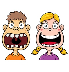 Kids decayed tooth vector