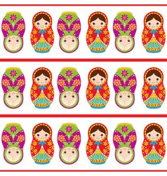 Matryoshka seamless pattern vector