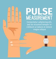 pulse measurement for medical poster vector image