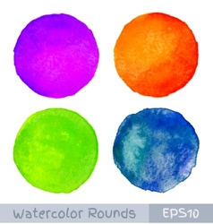Set of Colorful watercolor circular backgrounds vector image vector image