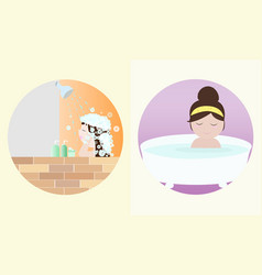 Taking a bath vector