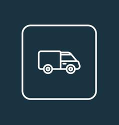 van outline symbol premium quality isolated vector image