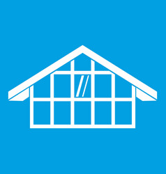 warehouse icon white vector image