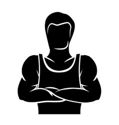 Bodybuilding muscle design vector image