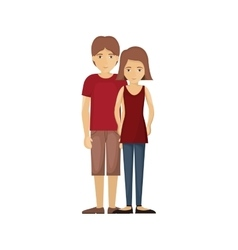 Isolated cartoon couple design vector