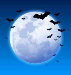 Moon and bats vector