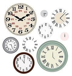 clock vintage vector image