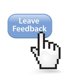 Leave feedback button vector