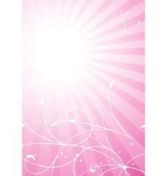Spring pink background vector