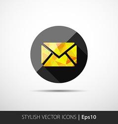 Modern yellow envelope icon vector