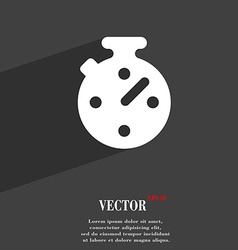 Timer stopwatch icon symbol flat modern web design vector