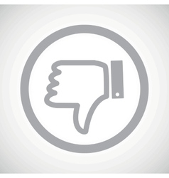 Grey dislike sign icon vector
