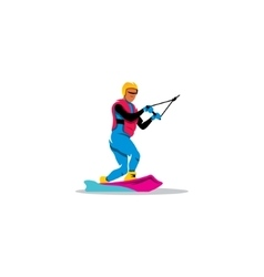 Wakeboarding sign vector