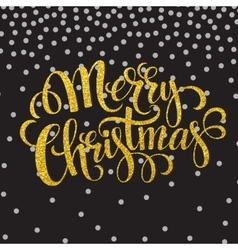 Hand drawn typography card merry christmas vector