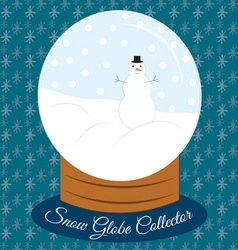 Snow globe collector vector
