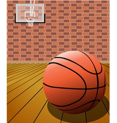 Basketball on the court vector