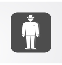 Businessman web icon Boss simbol White vector image vector image
