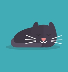 Cat is sleeping vector image vector image