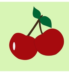 cherry fruit icon clipart vector image