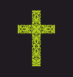 Church logo christian symbols jesus cross vector