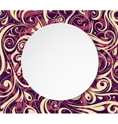 Circle banner with floral ornament vector