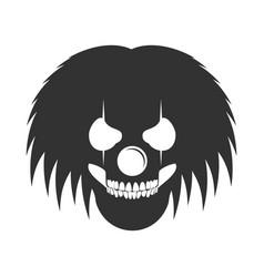 Clowny messy haired skull head logo symbol vector