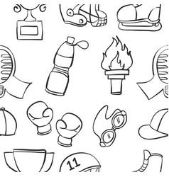 Doodle of equipment sport art vector