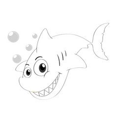 drafting animal for shark swimming vector image