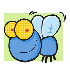 Fly Cartoon Mascot Character vector image vector image
