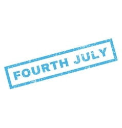 Fourth July Rubber Stamp vector image
