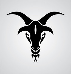 Goat Head Tribal vector image vector image